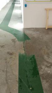 Levigatura cemento durante